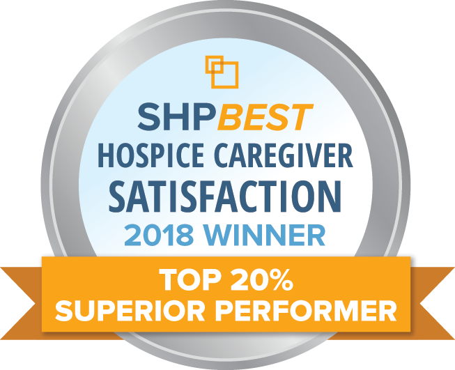 SHP-Award-BestHospiceCaregiverSatisfaction2018WinnerTop20PercentSuperiorPerformer